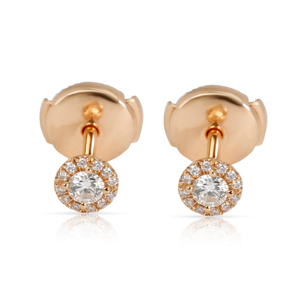 Tiffany & Co. Soleste Halo Diamond Stud Earring in 18K Rose Gold 0.17 CTW