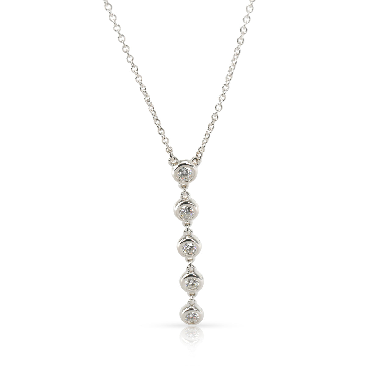 Tiffany & Co. Diamonds By The Yard Diamond Necklace in  Sterling Silver 0.25 CTW