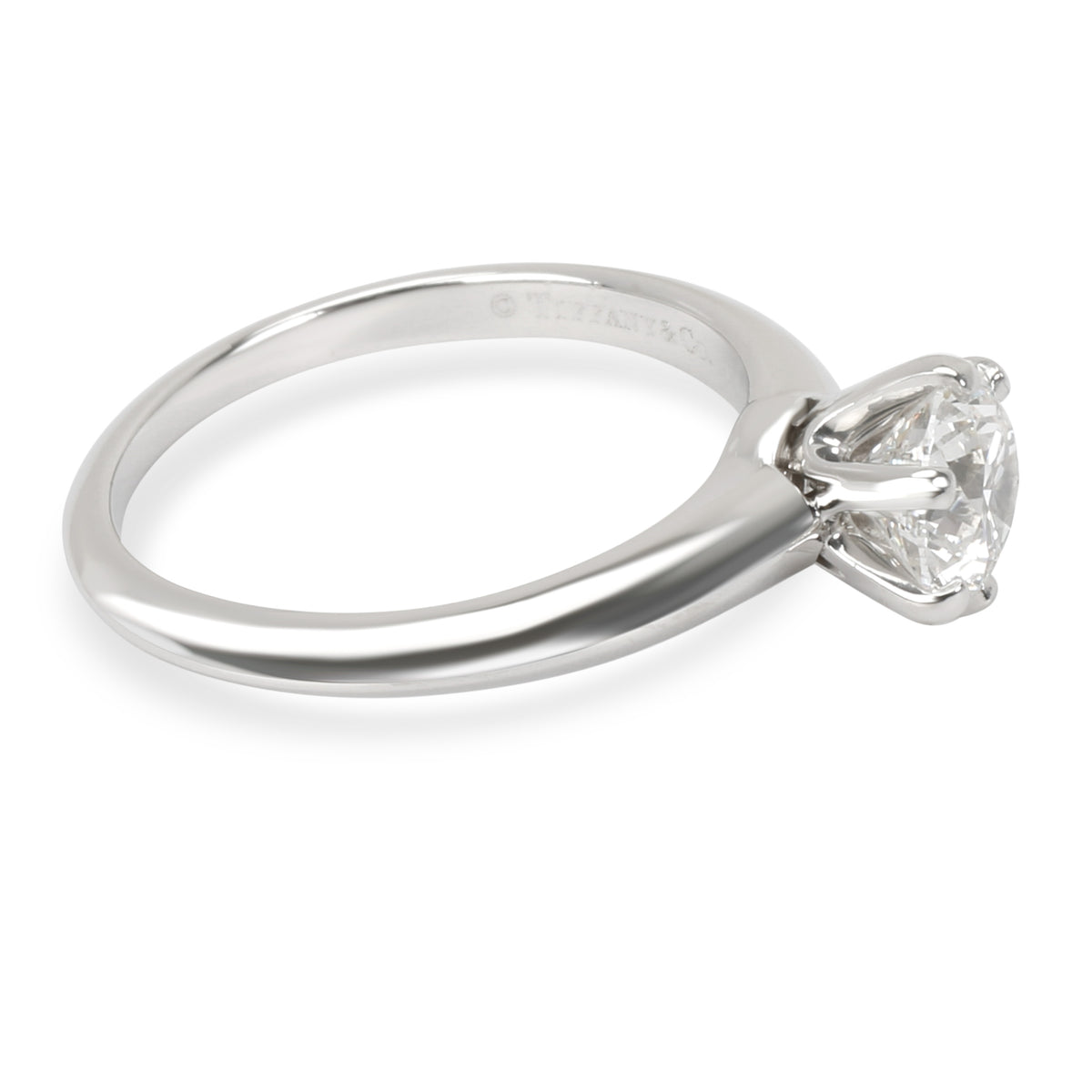 Tiffany & Co. Diamond Engagement Ring in Platinum (0.91 ct F/VS1)