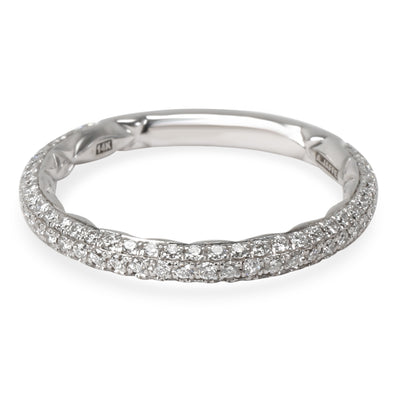 A. Jaffe Quilted Diamond Wedding Band in 14K White Gold (0.39 CTW)