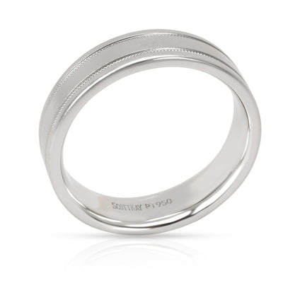 Scott K 6mm Satin Finished Men's Band in Platinum