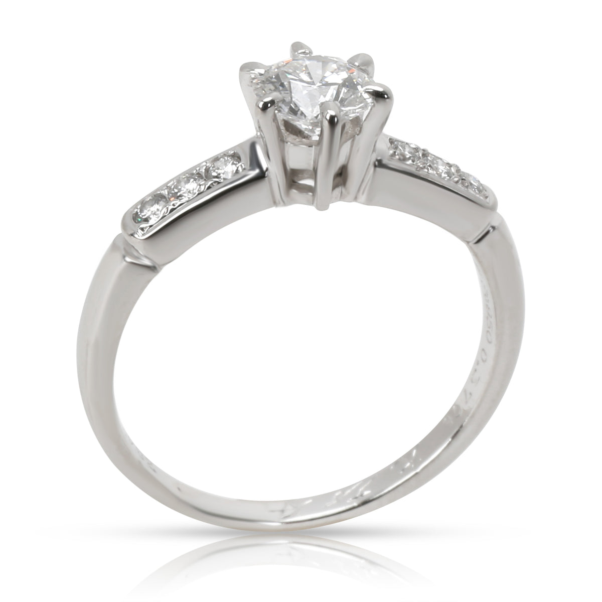 Mikimoto Certified Diamond Engagement Ring in  Platinum D VVS2 0.45 CTW