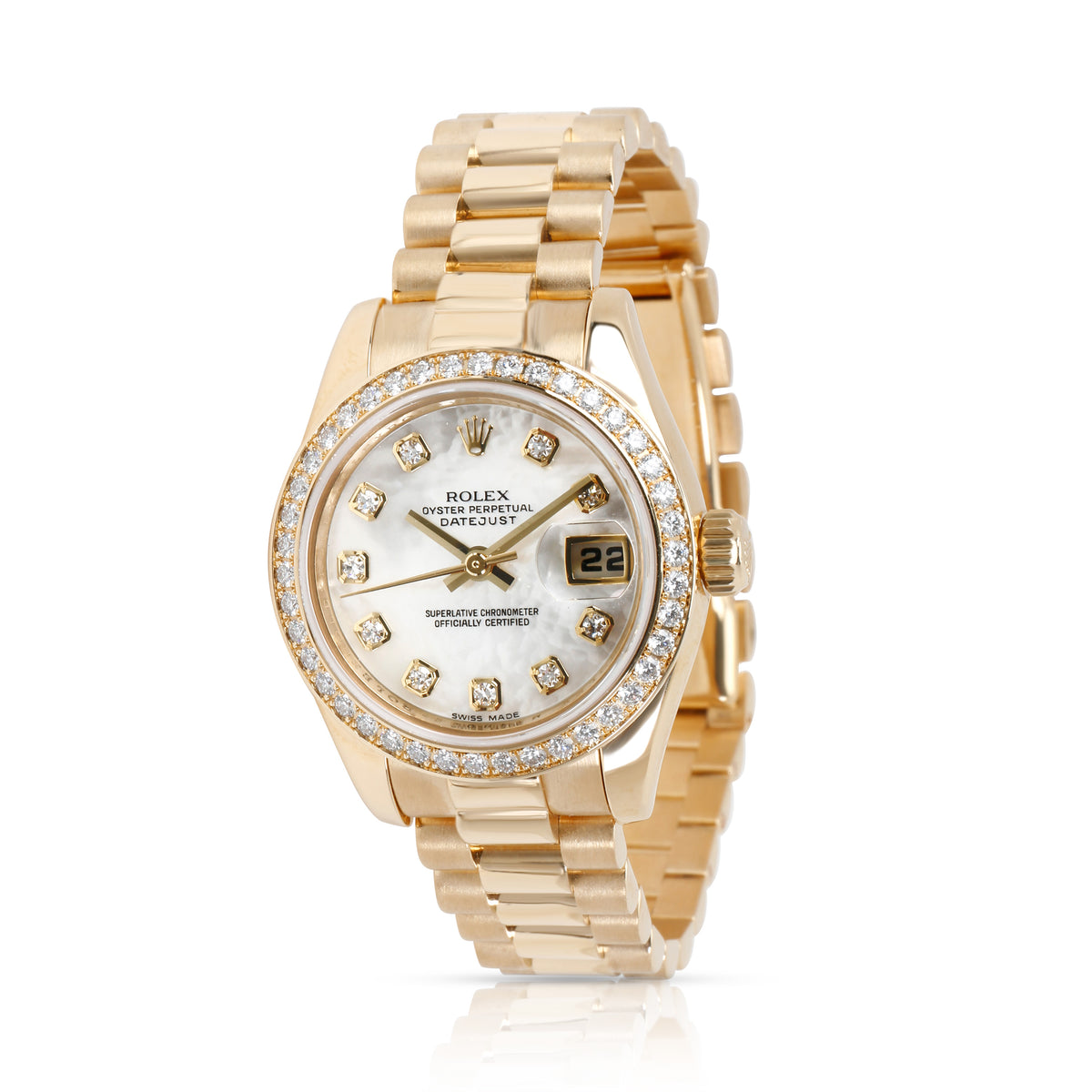 Rolex Datejust 179178 Women's Watch in 18kt Yellow Gold