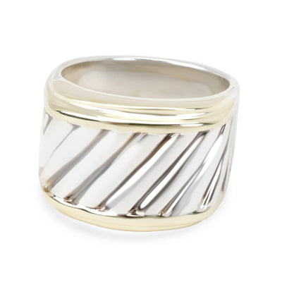 David Yurman Cigar Band in 14K Yellow Gold/Sterling Silver