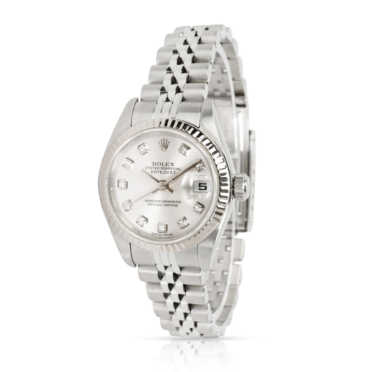 Rolex Datejust 79174 Women's Watch in 18kt Stainless Steel/White Gold