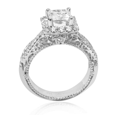 Verragio Diamond Engagement Ring Setting in 18K White Gold