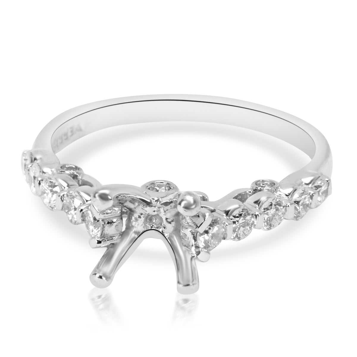 Verragio Cathedral Diamond Engagement Ring Setting in 18K White Gold 0.37CTW