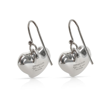 Tiffany & Co. Elsa Peretti Heart Drop Earrings in  Sterling Silver