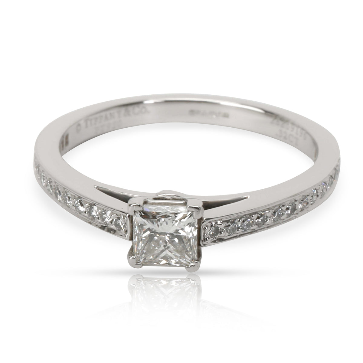 Tiffany & Co. Grace Diamond Engagement Ring in  Platinum F VVS1 0.46 CTW