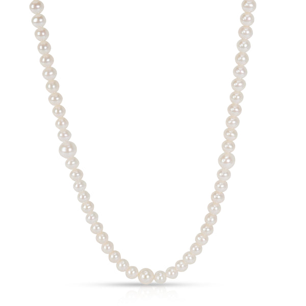 b656a5159 Tiffany & Co. Ziegfeld Fresh Water Pearl Necklace with Sterling Silver Clasp  ...