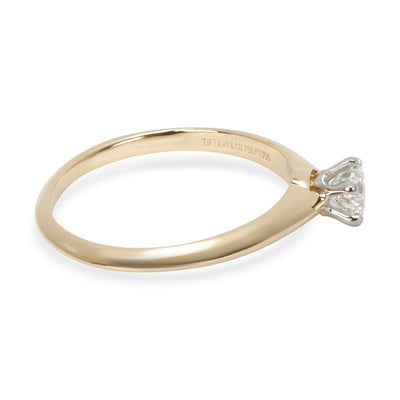 Tiffany & Co. Solitaire Diamond Engagement Ring in 18K Gold I VVS2 0.41CTW