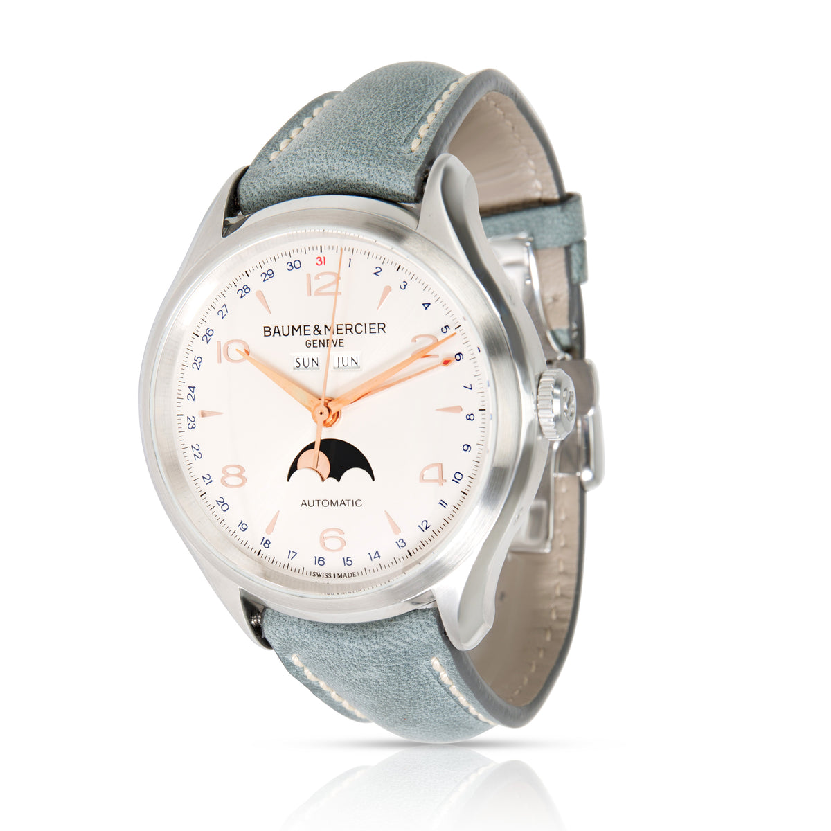 Baume & Mercier Clifton Complete Calendar MOA1005 Men's Watch in  Stainless Stee