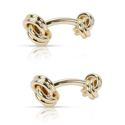 Tiffany & Co. Knot Cufflinks in 14K Yellow Gold