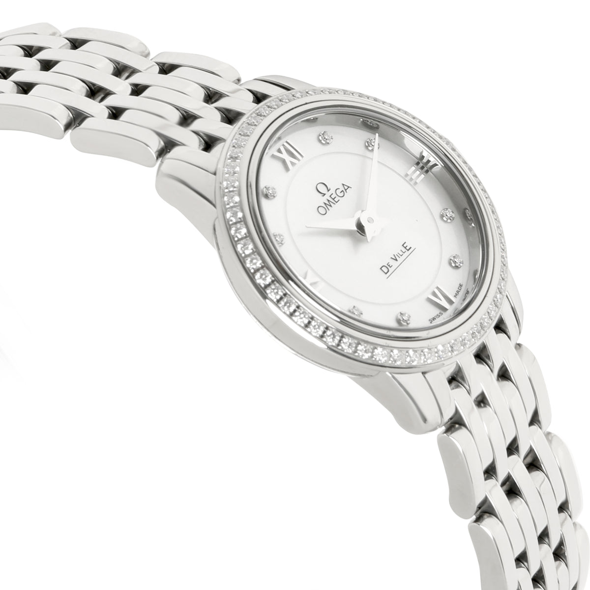 Omega De Ville Prestige 424.15.24.60.55.001 Women's Watch in  Stainless Steel