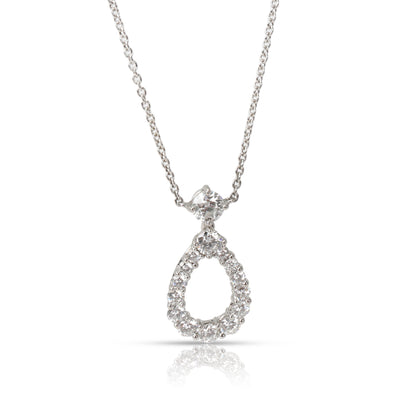 Harry Winston Teardrop Diamond Necklace in  Platinum 0.94 CTW