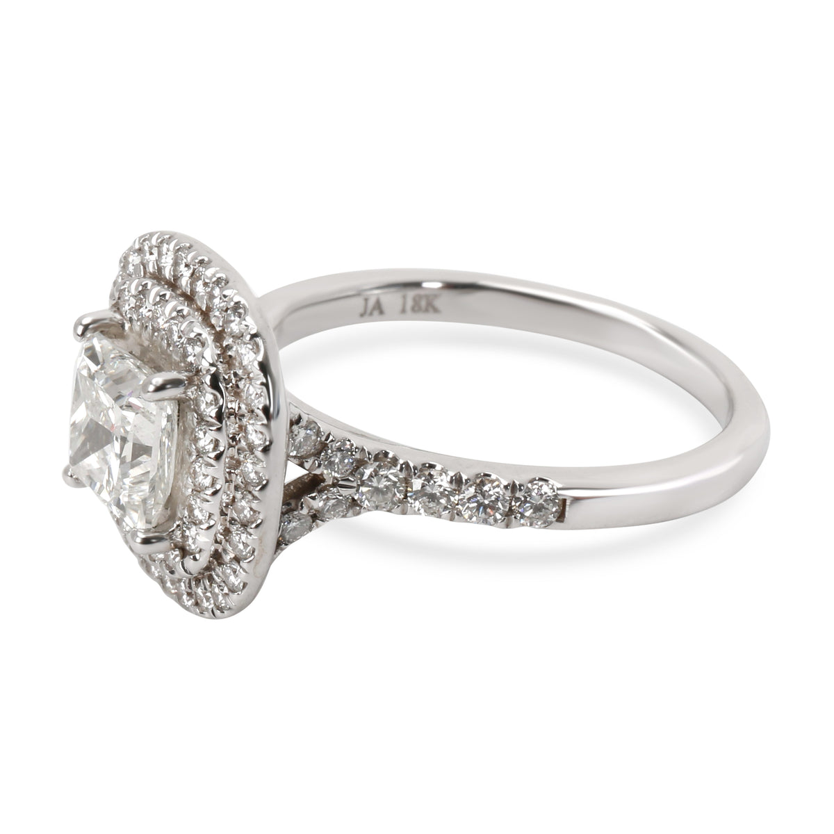James Allen Halo Diamond Engagement Ring in 18K White Gold GIA I SI1 1.82 CTW