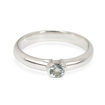 Tiffany & Co. Etoile Half Bezel Blue Topaz Ring in Sterling Silver