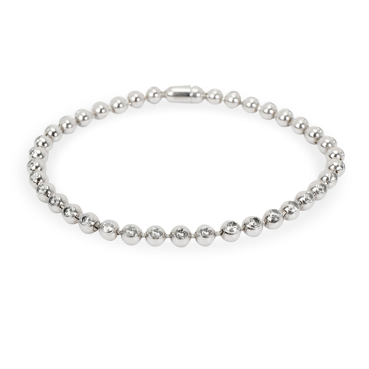 Cartier Ball Bracelet with Diamonds in 18K White Gold (2.22 CTW)