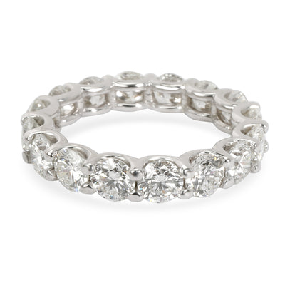 U Prong Diamond Eternity Band in 14KT White Gold 4 CTW