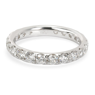 Blue Nile Diamond Eternity Band in 18K White Gold 1.47 CTW