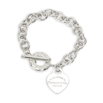 Tiffany & Co. Heart Tag Toggle Bracelet in  Sterling Silver