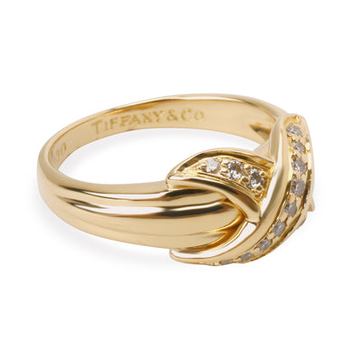 Tiffany & Co. Vintage X Diamond Ring in 18K Yellow Gold 0.13 CTW