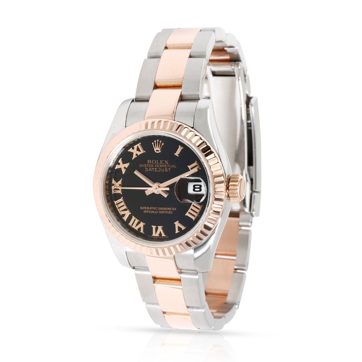 Rolex Datejust 179171 Women's Watch in 18kt Stainless Steel/Rose Gold