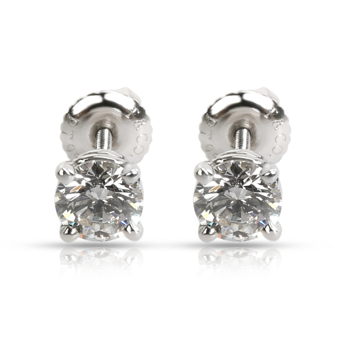 Tiffany & Co. Diamond Stud Earring in  Platinum 0.93 CTW