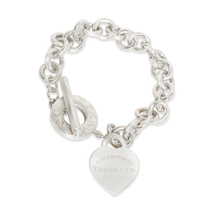 Tiffany & Co. Return To Tiffany Heart Tag Toggle Bracelet in Sterling Silver