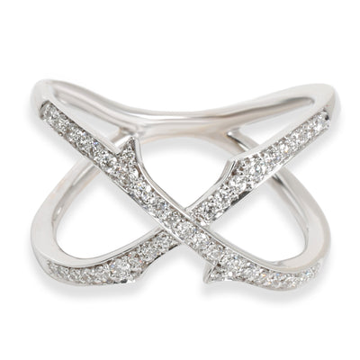 Stephen Webster Crossover Diamond Thorn Ring in 18K White Gold 0.39 CTW