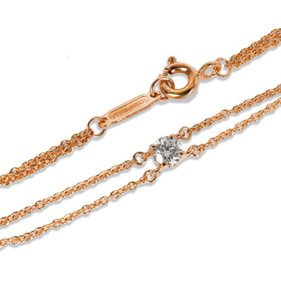 Tiffany & Co. Solitaire Diamond Bracelet in 18K Rose Gold 0.18 CTW