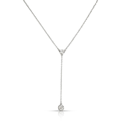 Tiffany & Co. Elsa Peretti Diamond by the Yard Necklace in  Platinum 0.2 CTW