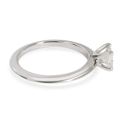 Tiffany & Co. Princess Diamond Engagement Ring in Platinum (I-VS2)0.42 CTW
