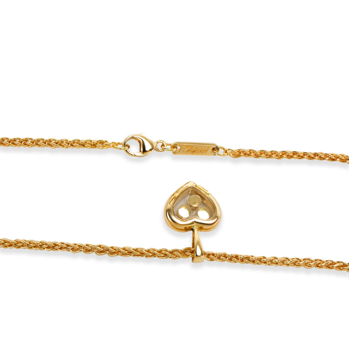 Chopard Happy Hearts Icon Pendant in 18K Yellow Gold 0.1 CTW