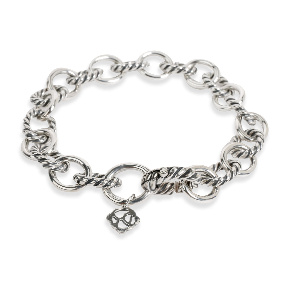 David Yurman Medium Oval Link Bracelet in  Sterling Silver