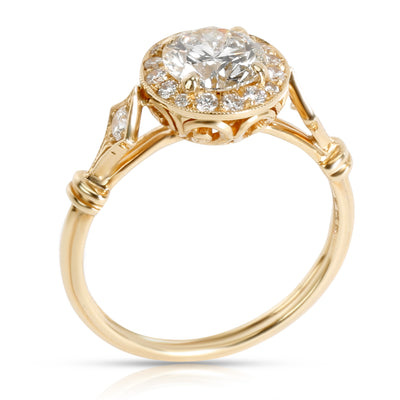 Heidi Diamond Engagement Ring in 18K Yellow Gold K-L VS 1.18 CTW