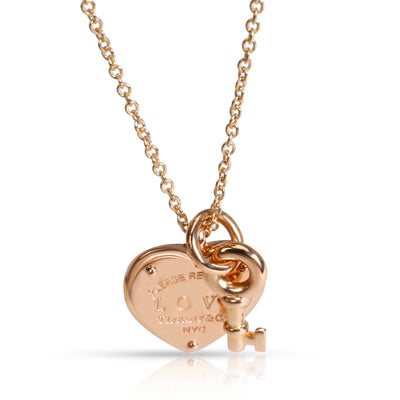 Tiffany & Co. Return to Tiffany Love Heart Tag Key Pendant in 18K Rose Gold