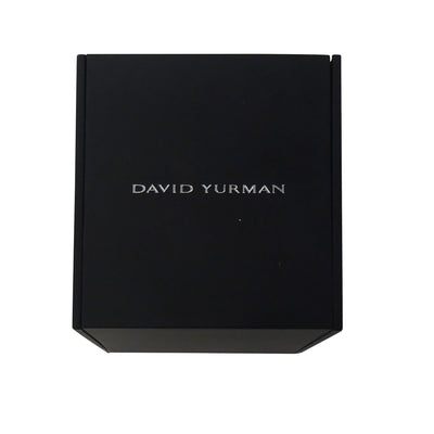 David Yurman Forged Carbon Honeycomb Dog Tag Necklace in Stainless Steel