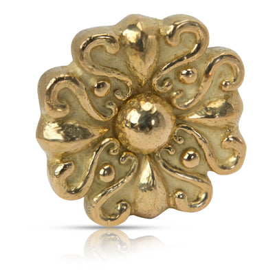 Katy Briscoe Spirals Brooch in 18K Yellow Gold