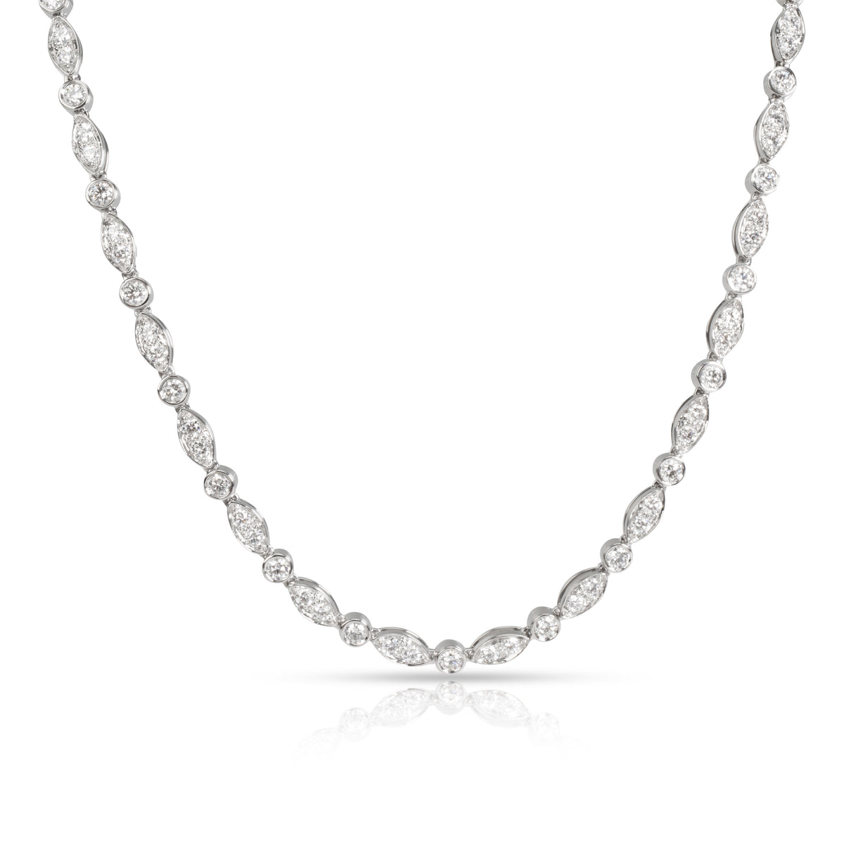 Tiffany & Co. Swing Diamond Tennis Necklace in  Platinum 3.60 CTW