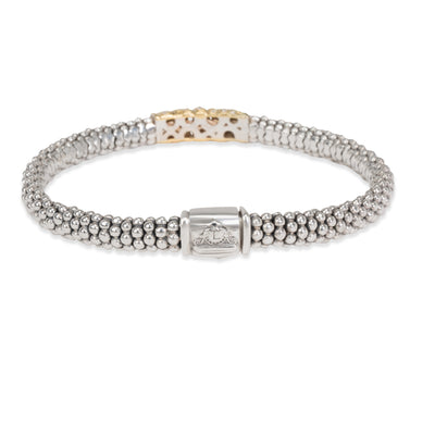 Lagos Diamond Wrap Bangle in 18K Yellow Gold/Sterling Silver 0.29 CTW