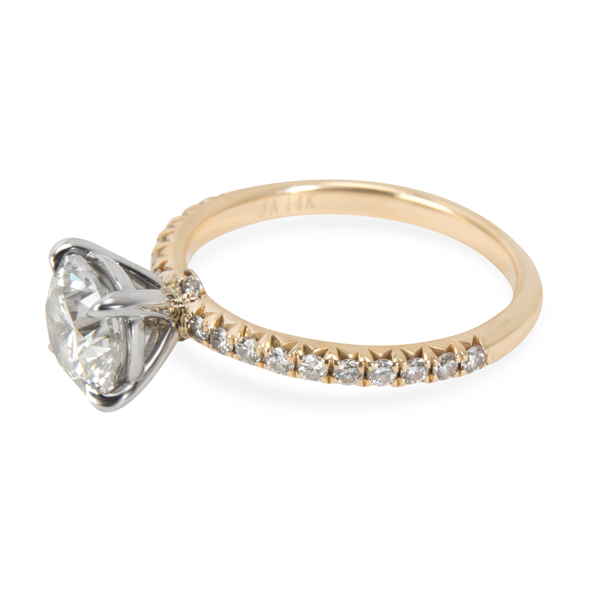 James Allen French Cut Diamond Engagement Ring in 14KT Gold K VVS2 1.22 CTW