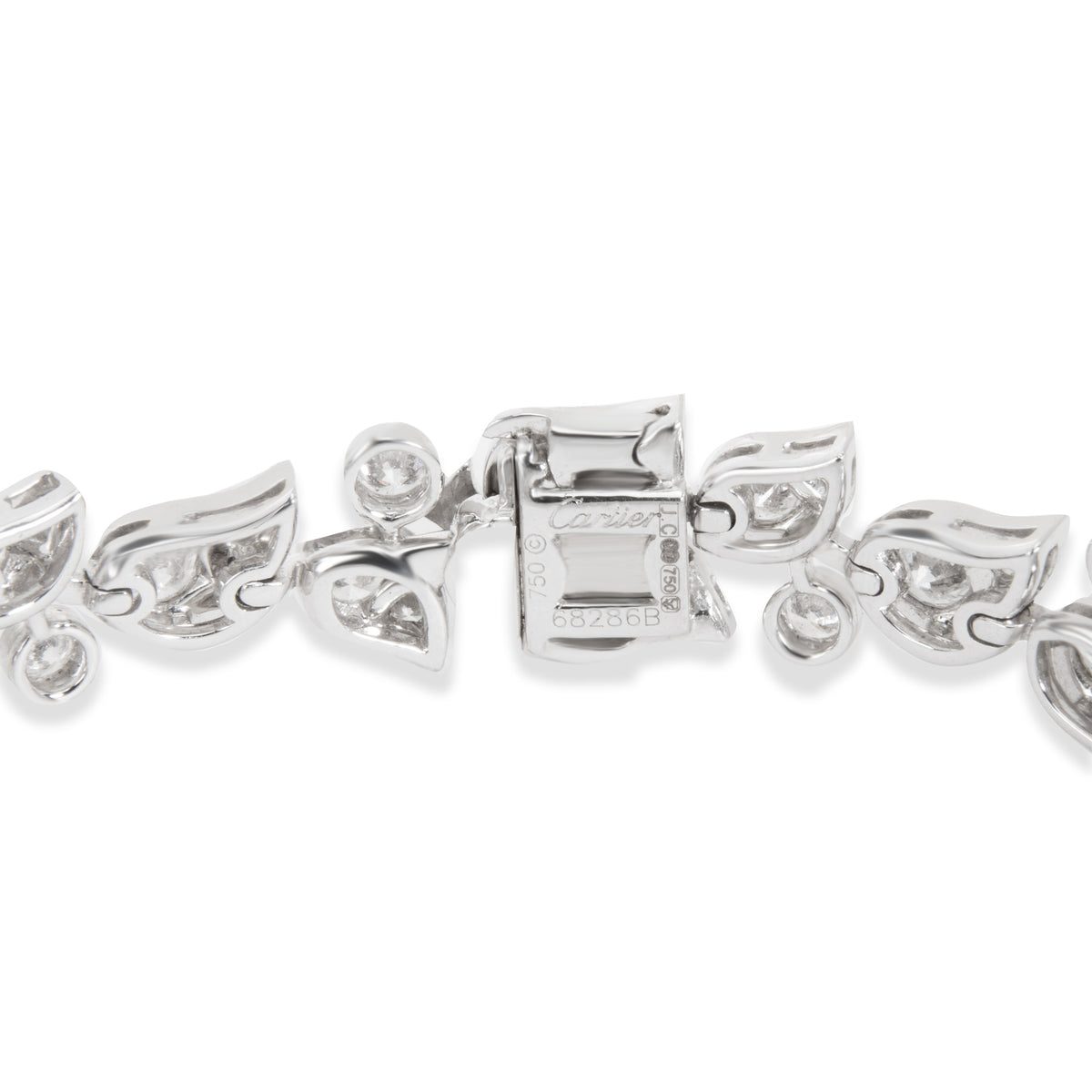 Cartier Diamond Floral Bracelet in 18K White Gold (7.50 CTW)