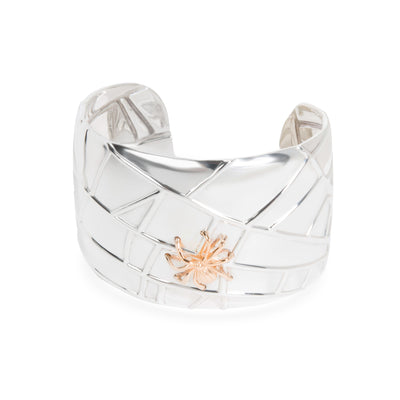 Tiffany & Co. Wide Spider Cuff in 18KT Yellow Gold & Sterling Silver
