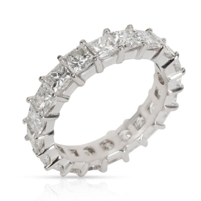 Princess Cut Diamond Eternity Band in Platinum F-G VS 3.60 CTW