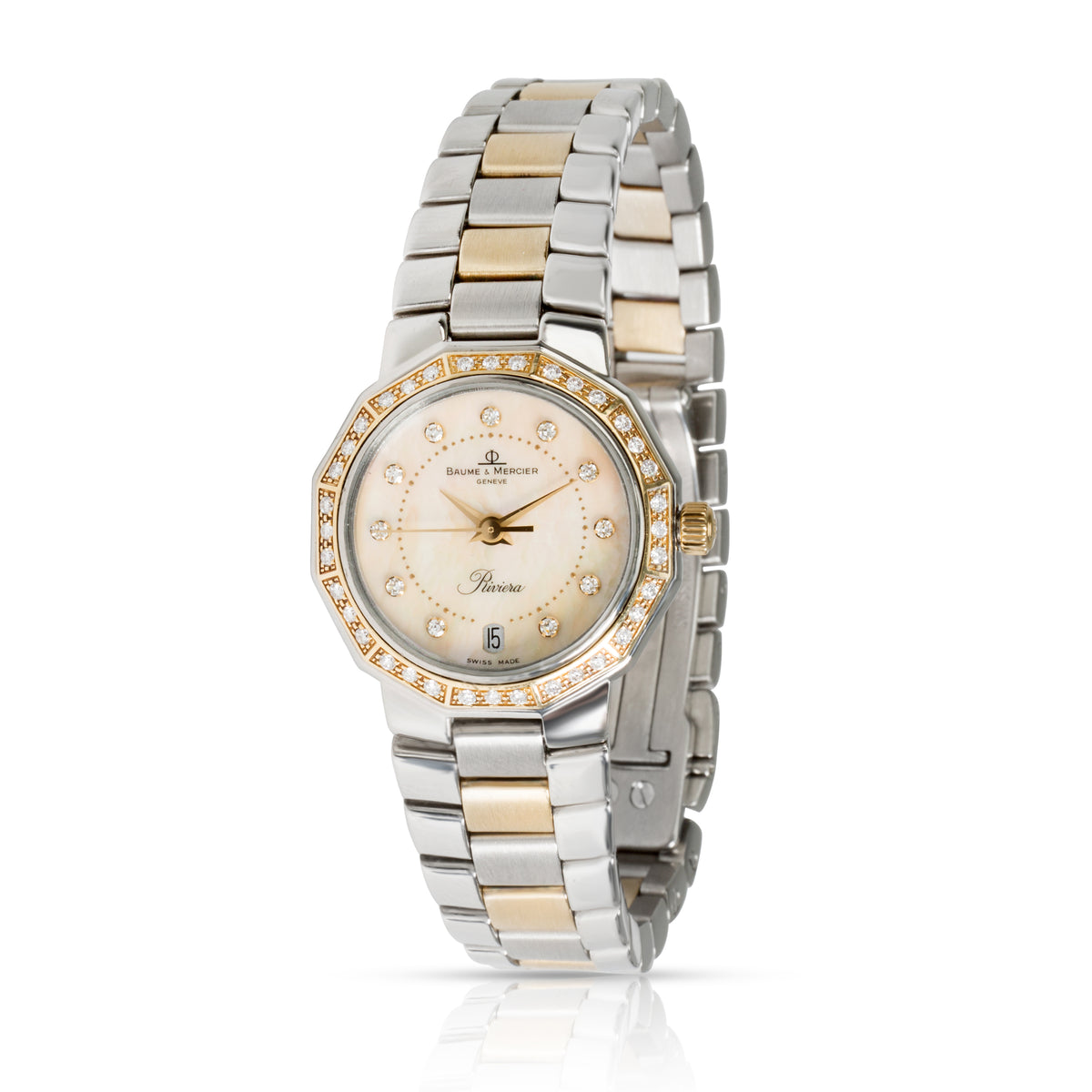 Baume & Mercier Riviera 5231 Women's Watch in 18kt Stainless Steel/Yellow Gold