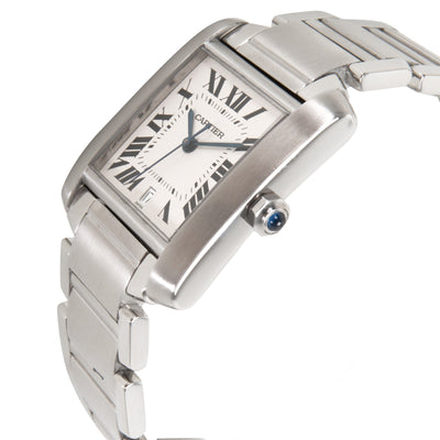 Cartier Tank Francaise W51002Q3 Men's Watch in  Stainless Steel