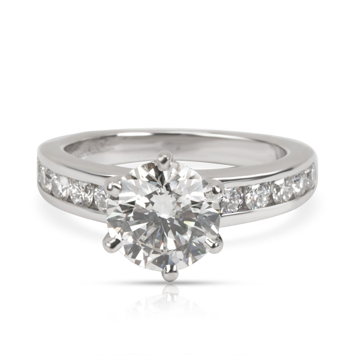 Tiffany & Co. Channel Diamond Engagement Ring in  Platinum I VS2 1.68 CTW