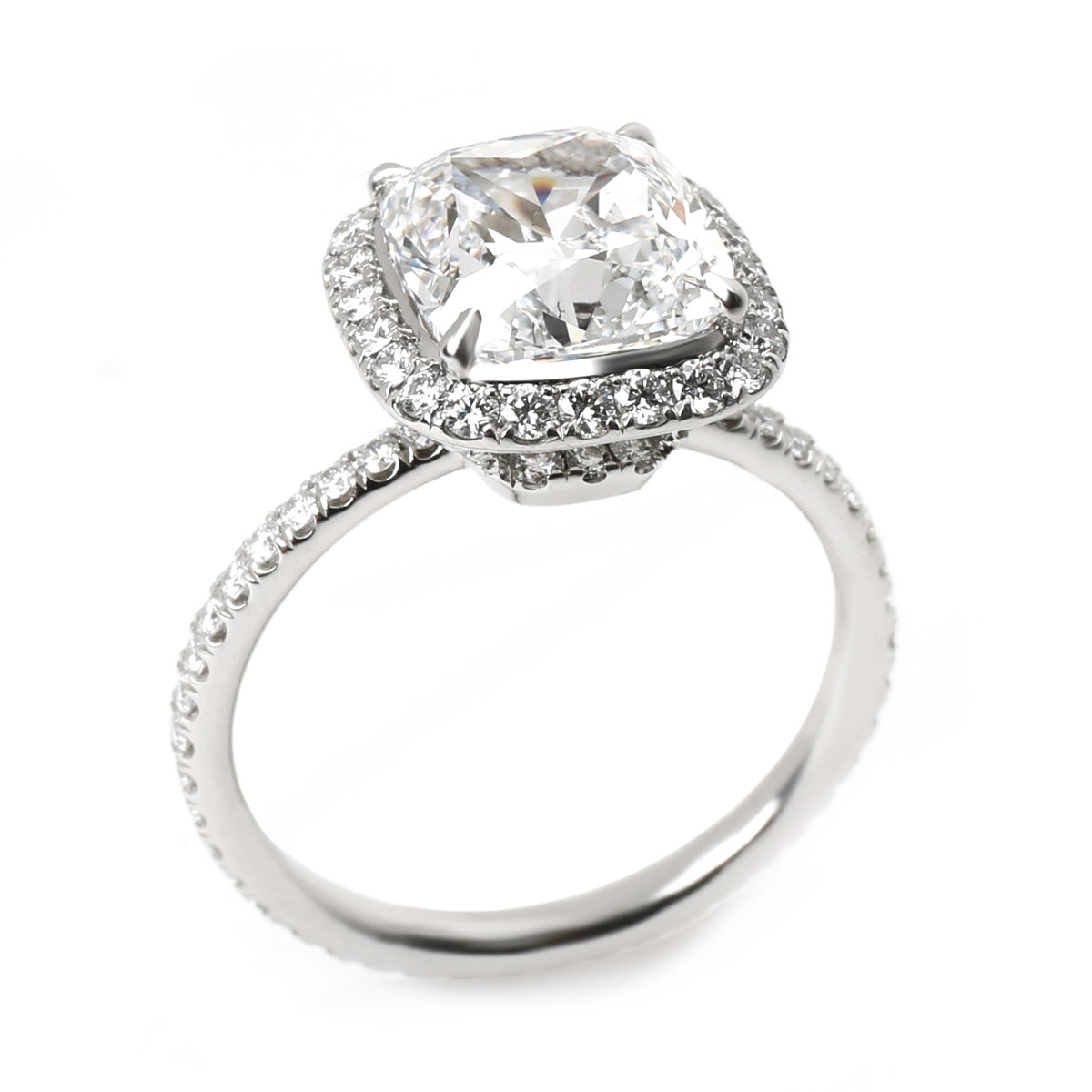 Harry Winston Diamond Engagement Ring in Platinum (2.66 ct Cushion D/VVS2)