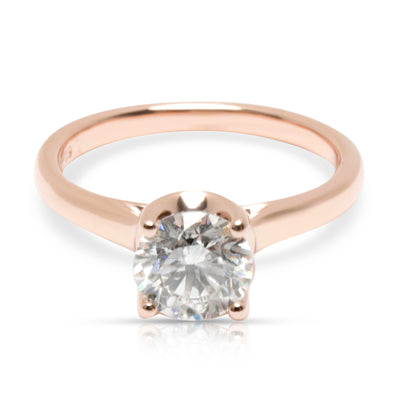 GIA Certified Diamond Solitaire Engagement Ring in 14K Rose Gold (1.00 ct H/SI2)